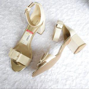 "BANDOLINO | ""Sages"" Metallic Block Heel Sandals"
